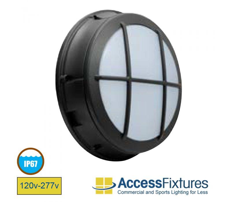 CIRC 20w Latticed LED Wall Pack 120-277v, 50w HID EQV L70@187K Hrs – EXTREME LIFE