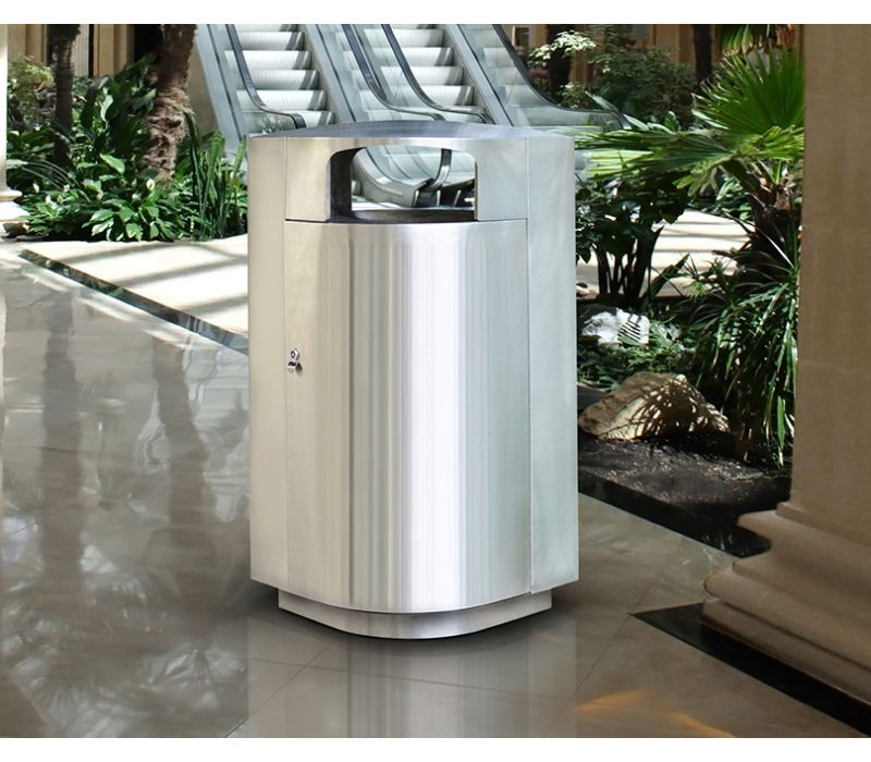 Leafview Stainless Steel Receptacle