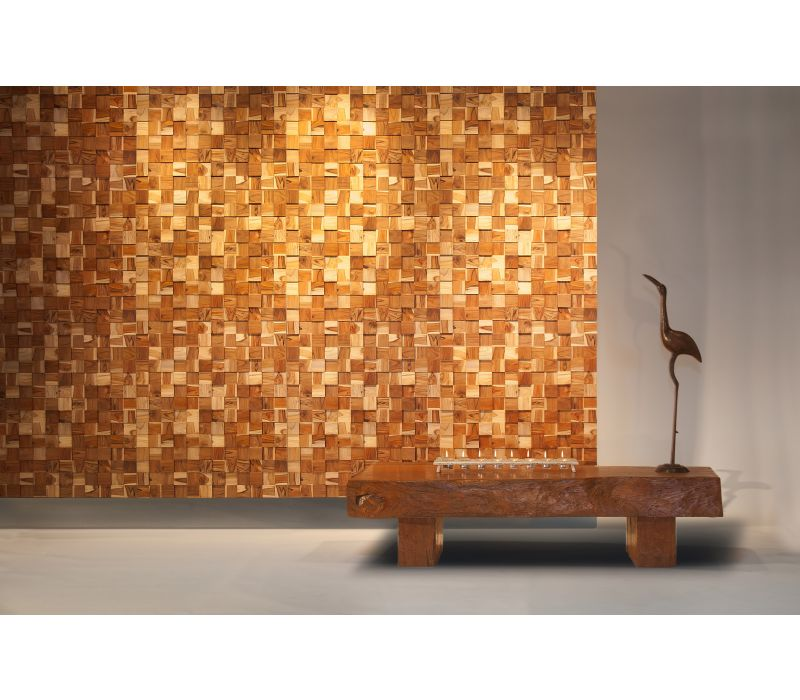 Wood Wall Covering - SQUARES