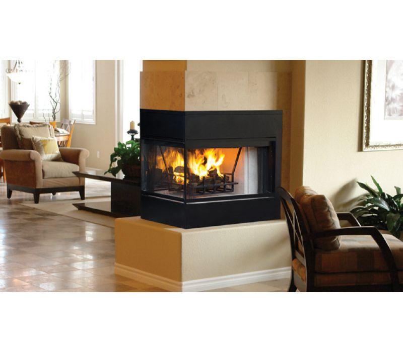 Astria Monterey Peninsula wood-burning fireplace