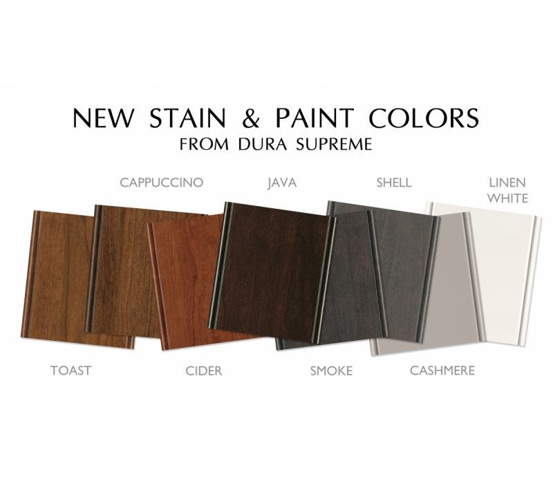 New Cabinet Finishes by Dura Supreme Cabinetry