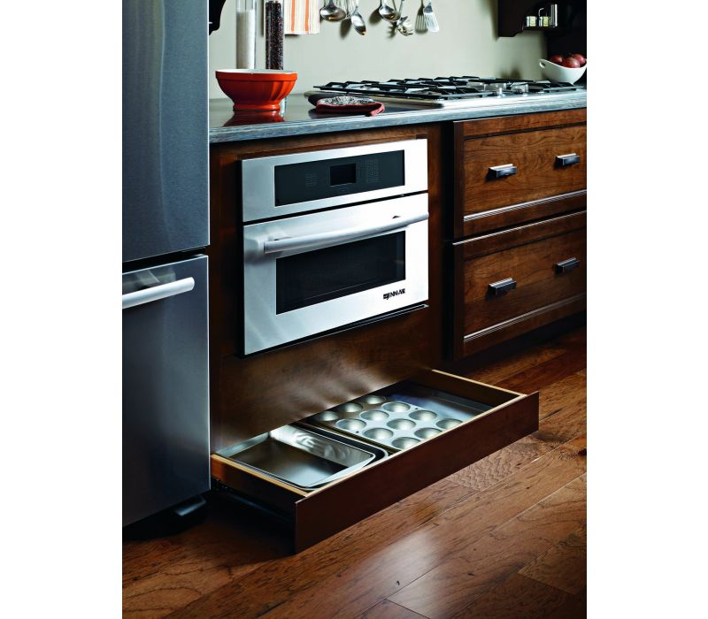 Diamond Toekick Drawer with Push to Open Guides