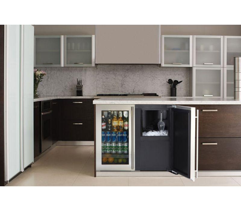 Modular 3000 Series 36 Custom Glass Door Refrigerator / Clear Ice Machine - 3018RGL/3018CLR