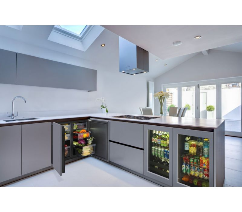 "Modular 3000 Series 24"" Glass Door Refrigerator - 3024RGL"