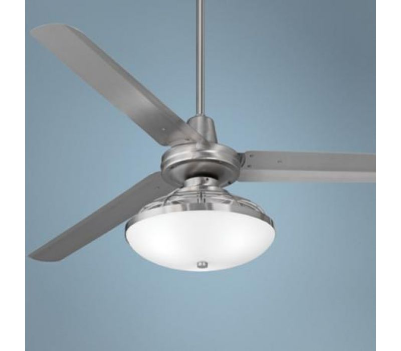 60 Turbina Brushed Steel Industrial Ceiling Fan