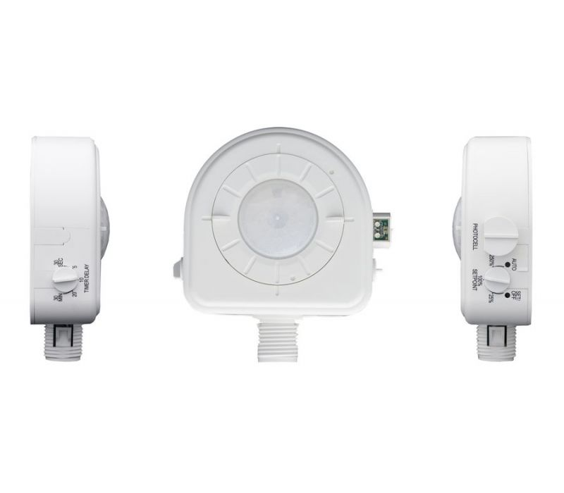 PIR Fixture Mount High Bay Sensor with Integrated Light Sensor and Three Interchangeable Lenses