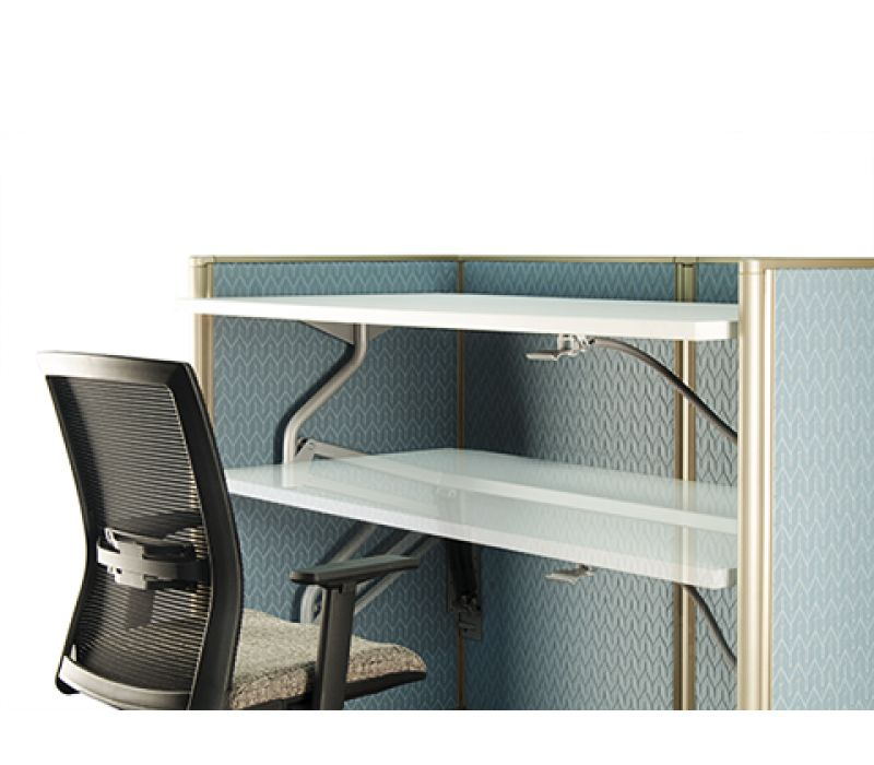 Panel-Supported Height-Adjustable Worksurface