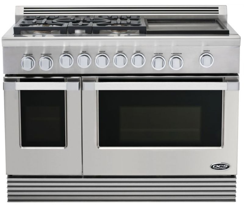 48 in Professional 6 Burner Dual Fuel Range W Griddle RDU-486GD