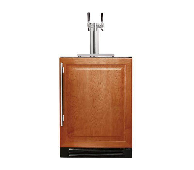 True 24-inch Dual Tap Beverage Dispenser - Overlay Panel