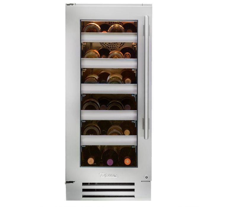 True 15-inch Wine Cabinet Stainless Steel