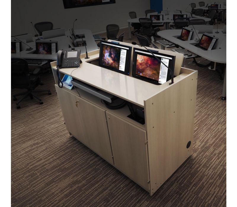 iLid DUO Multi-Media Dual Screen Podium