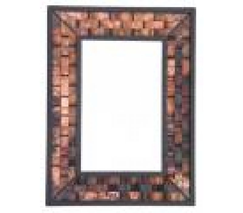 Rushton Mirror with Fired Copper