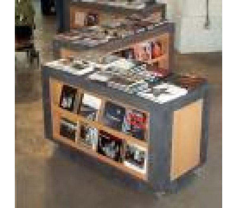 Rolling bookshelves for powerHouse Books