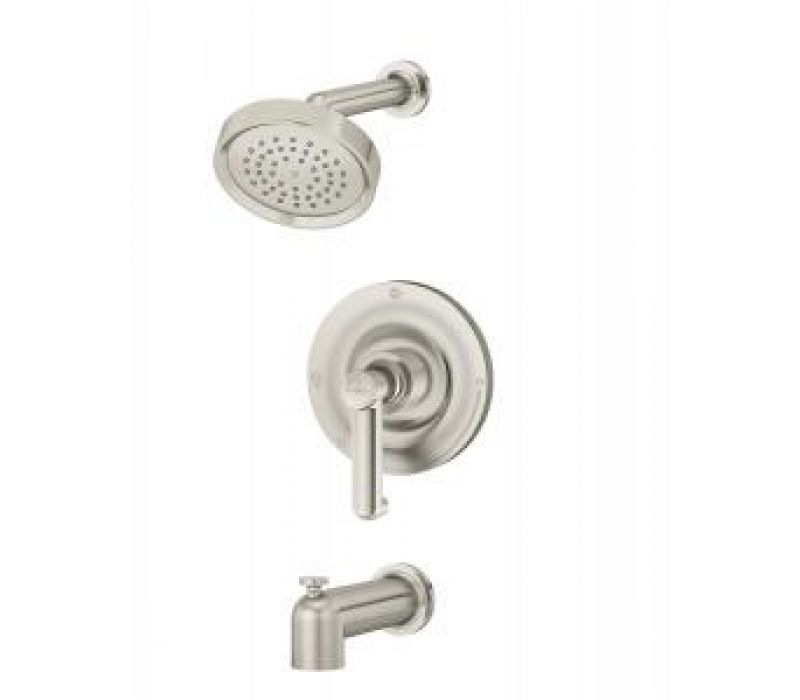 Museo Tub/Shower system in Satin Nickel